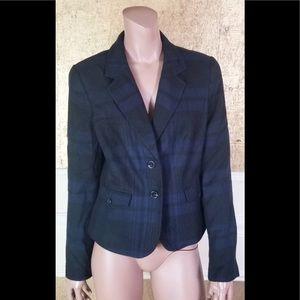 NWT Ann Tylor LOFT plaid two buttons blazer 8